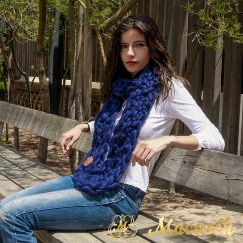 Bufanda punto grueso lana