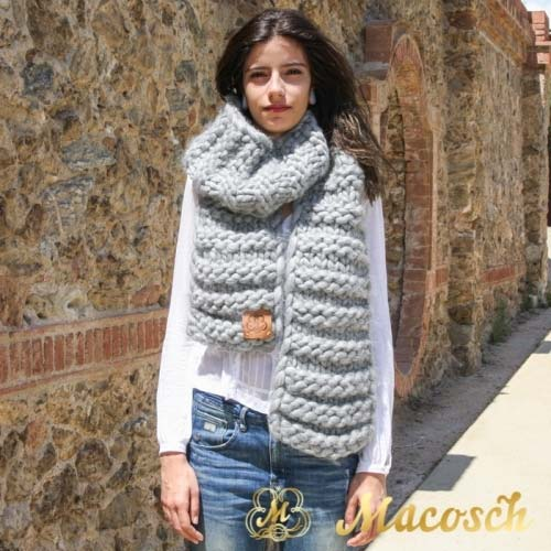 Bufanda xxl punto grueso lana